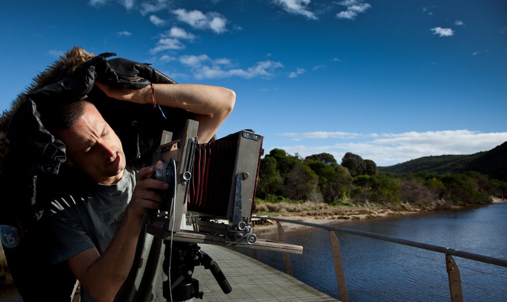photographer Nick Thorley using 5x4 Bourke and James