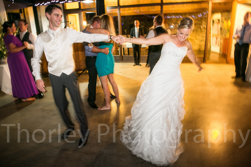 Wedding dance, the spin move.