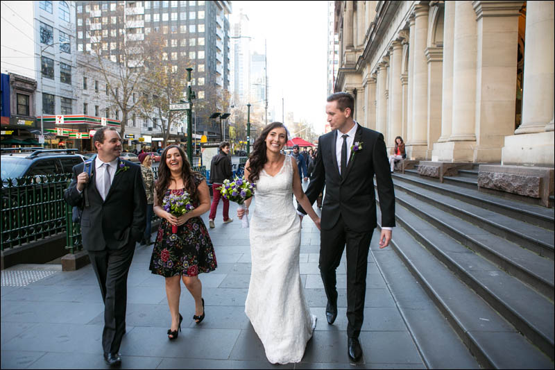 Bridal party leaving Melbourne GPO